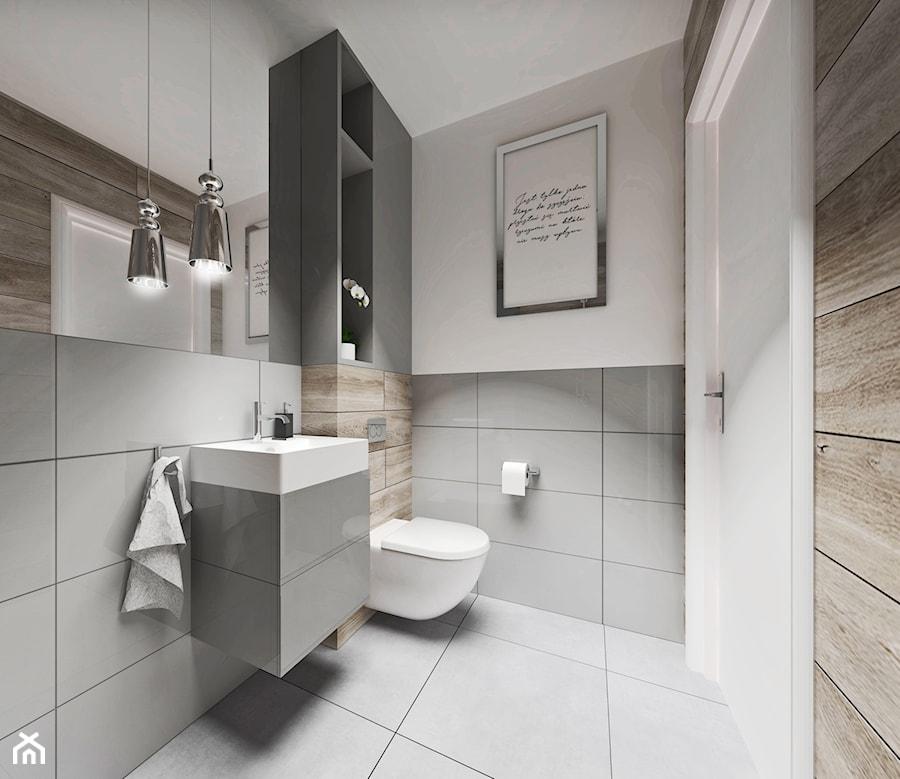 łazienka 3m2 średnia Biała łazienka Styl Nowoczesny