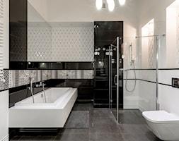 Łazienki - Średnia łazienka w bloku w domu jednorodzinnym bez okna, styl glamour - zdjęcie od Jacek Bernatek