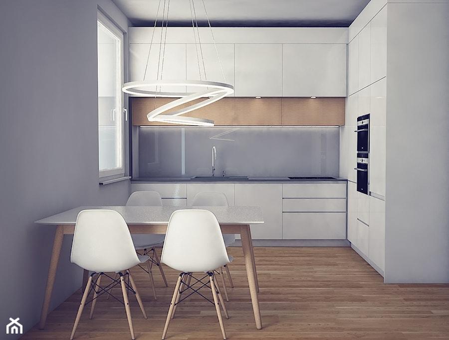 Kuchnie  Średnia otwarta kuchnia w kształcie litery l w aneksie, styl skandy   -> Kuchnie Z Marmurem