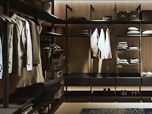 Garderoba KOMANDOR - Duża otwarta garderoba oddzielne pomieszczenie, styl industrialny - zdjęcie od Komandor - Wnętrza z Charakterem