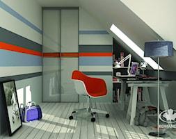 Pokój młodzieżowy KOMANDOR - Mały zielony pokój dziecka dla chłopca dla dziewczynki dla ucznia dla nastolatka, styl nowoczesny - zdjęcie od Komandor - Wnętrza z Charakterem