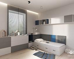 Pokój dziecięcy KOMANDOR - Mały biały pokój dziecka dla chłopca dla dziewczynki dla nastolatka, styl minimalistyczny - zdjęcie od Komandor - Wnętrza z Charakterem