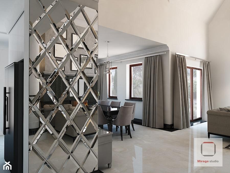 Gęsta przestrzeń luksusu - Mały biały hol / przedpokój, styl nowojorski - zdjęcie od Mirage Studio