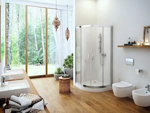 Brodziki - Średnia biała łazienka w domu jednorodzinnym z oknem, styl nowoczesny - zdjęcie od EXCELLENT
