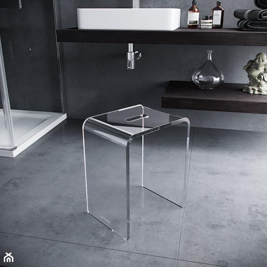 Dodatki i akcesoria łazienkowe - Łazienka w bloku w domu jednorodzinnym bez okna, styl minimalistyczny - zdjęcie od EXCELLENT