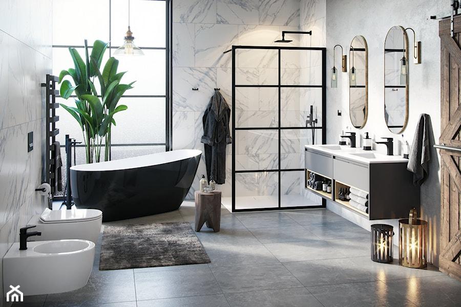 Czerń W łazience łazienka Styl Eklektyczny Zdjęcie Od