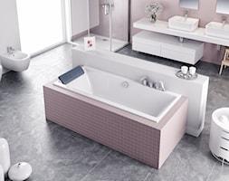 Dodatki i akcesoria łazienkowe - Duża biała beżowa łazienka na poddaszu w bloku w domu jednorodzinnym z oknem - zdjęcie od EXCELLENT