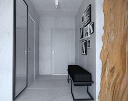 Projekt mieszkania w stylu Loftowym - Średni szary hol / przedpokój, styl industrialny - zdjęcie od BRight Studio