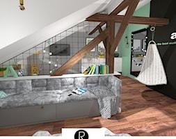 Pokój dziewczynki na poddaszu. Pokój nastolatka, Pokój nastolatki - zdjęcie od KATARZYNA ROŻEK R-INTERIOR DESIGN projektowanie wnętrz
