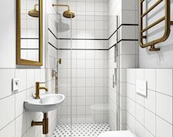 Rustykalny klimat - łazienki - Mała biała łazienka bez okna, styl rustykalny - zdjęcie od Vecler Design