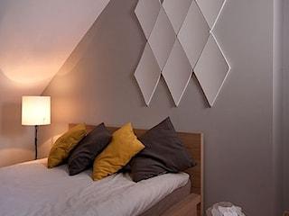Panele ścienne 3D Kalithea w sypialni