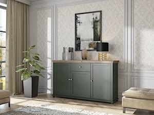 Zielone meble w salonie