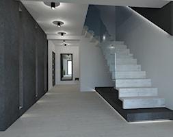 PROJEKT DOMU JEDNORODZINNEGO W SOSNOWCU - Schody, styl minimalistyczny - zdjęcie od AFG STUDIO - Homebook