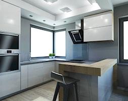STREFA DZIENNA MIESZKANIA W GLIWICACH - Kuchnia, styl nowoczesny - zdjęcie od AFG STUDIO - Homebook