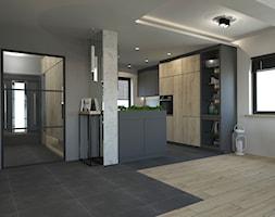 PROJEKT STREFY DZIENNEJ W DOMU W JASTRZĘBIU ZDROJU - Kuchnia, styl industrialny - zdjęcie od AFG STUDIO - Homebook