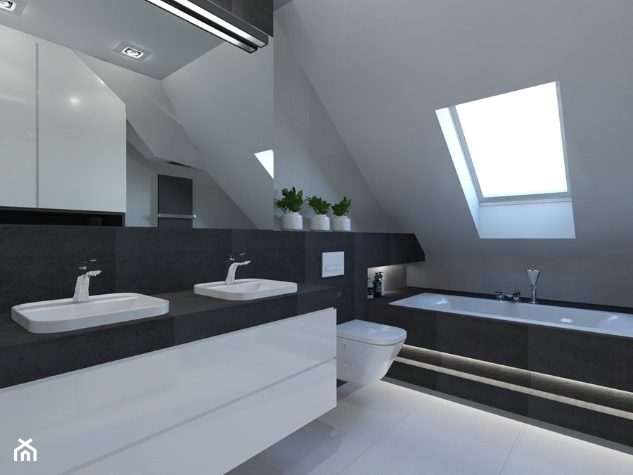 Łazienka na piętrze. - zdjęcie od AFG STUDIO