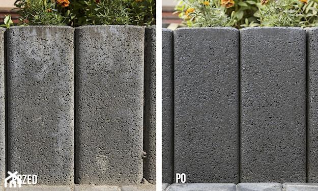 czyszczenie kostki brukowej z cementu