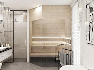 Łazienka z sauną\ Willa w stylu Amerykańskim