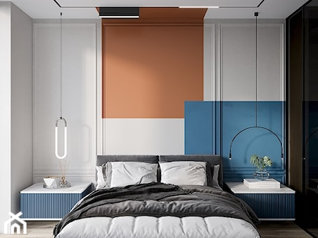 Aranżacje wnętrz - Sypialnia: Sypialnia modern. - Smart Design Sara Tokarczyk. Przeglądaj, dodawaj i zapisuj najlepsze zdjęcia, pomysły i inspiracje designerskie. W bazie mamy już prawie milion fotografii!