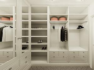 Duża garderoba w stylu klasycznym