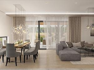 Salon w domu o nowoczesnej bryle Solec Kujawski