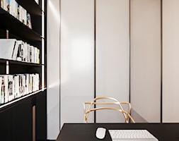 Nowoczesna+sypialnia+po%C5%82%C4%85czona+z+gabinetem+-+zdj%C4%99cie+od+Smart+Design+Sara+Tokarczyk