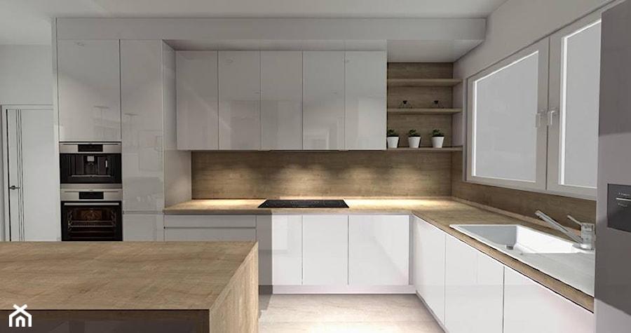 Kuchnia w bieli  zdjęcie od Smart Design Sara Tokarczyk -> Kuchnia W Bloku W Bieli