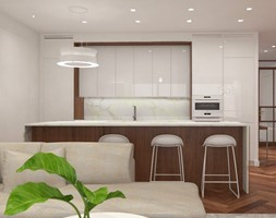 Apartament nad jeziorem - Kuchnia, styl nowoczesny - zdjęcie od SOFT LOFT Magdalena Jakimyszyn - Homebook
