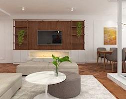 Apartament nad jeziorem - Salon, styl nowoczesny - zdjęcie od SOFT LOFT Magdalena Jakimyszyn - Homebook