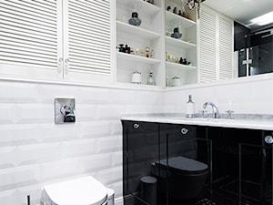 Biało czarna łazienka - zdjęcie od SOFT LOFT Magdalena Jakimyszyn