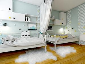 Sypialnia dwóch nastoletnich sióstr - zdjęcie od NEFA Architekci