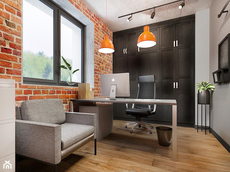 Biura z cegłą - soft industrial - zdjęcie od NEFA Architekci