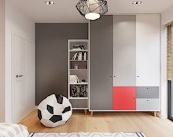 Pokój chłopca z czerwonym akcentem - zdjęcie od NEFA Architekci
