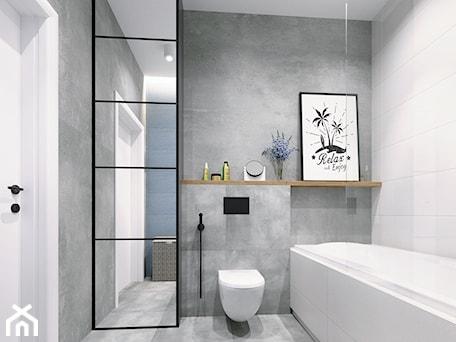 Aranżacje wnętrz - Łazienka: Warszawa Villa S - projekt łazienki chłopców - NEFA Architekci - Wnętrza. Przeglądaj, dodawaj i zapisuj najlepsze zdjęcia, pomysły i inspiracje designerskie. W bazie mamy już prawie milion fotografii!