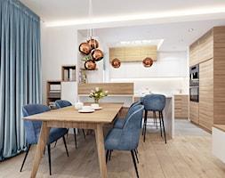 Kuchnia+w+apartamencie+Soft+Blue.+-+zdj%C4%99cie+od+NEFA+Architekci
