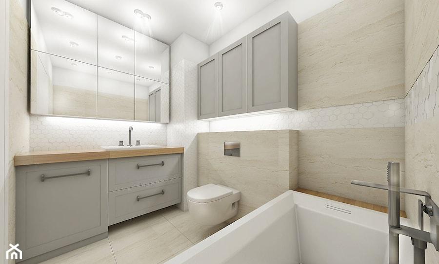 łazienka Z Białą Mozaiką Zdjęcie Od Nefa Architekci Homebook