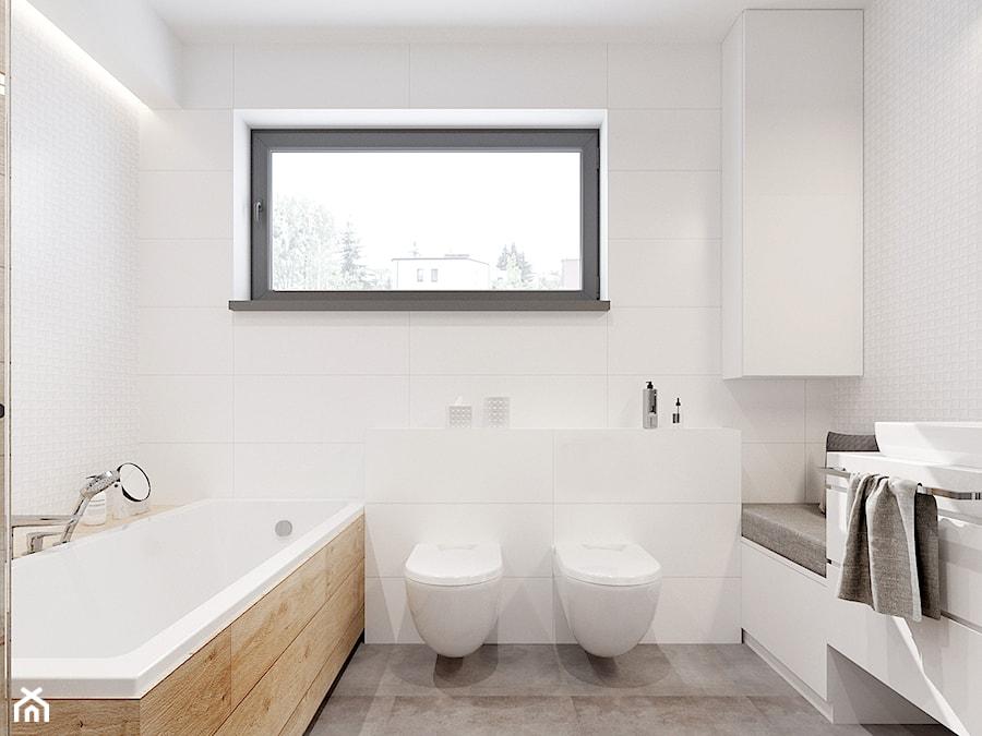 łazienka W Szarościach Z Drewnem Zdjęcie Od Nefa