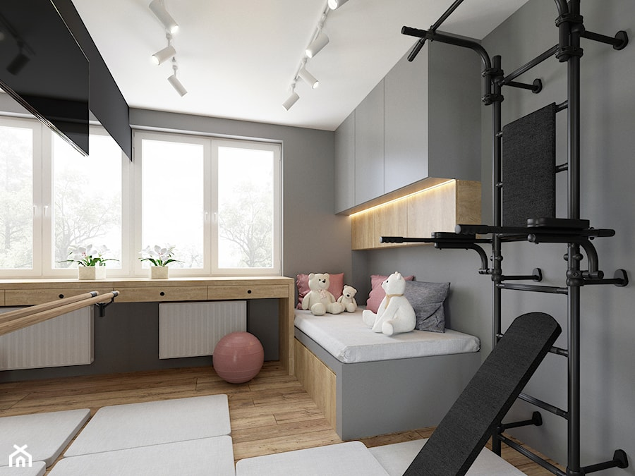 Pokój małej gimnastyczki - zdjęcie od NEFA Architekci