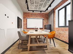 Sala konferencyjna w stylu industrialnym - zdjęcie od NEFA Architekci