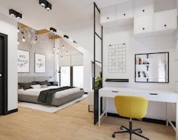 Sypialnia+z+k%C4%85cikiem+do+pracy+w+projekcie+KMB-01+-+zdj%C4%99cie+od+NEFA+Architekci
