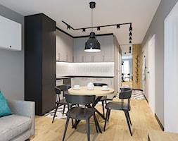 WIZ-01 Salon z kuchnią i jadalnią - zdjęcie od NEFA Architekci - Wnętrza - Homebook