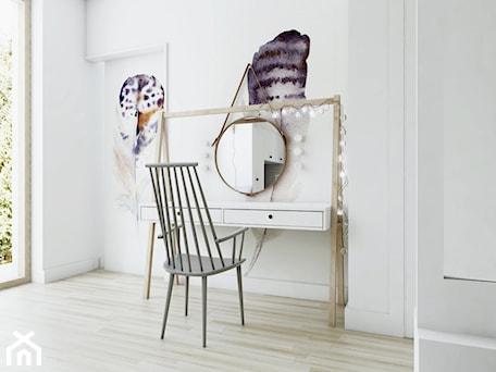 Aranżacje wnętrz - Pokój dziecka: Sypialnia w stylu skandynawskim - widok na toaletkę. - NEFA Architekci - Wnętrza. Przeglądaj, dodawaj i zapisuj najlepsze zdjęcia, pomysły i inspiracje designerskie. W bazie mamy już prawie milion fotografii!