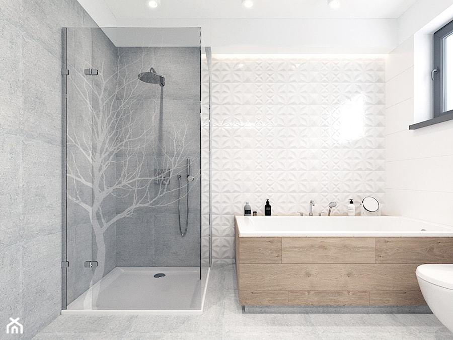 Łazienka z dekorem. - zdjęcie od NEFA Architekci