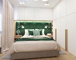 Sypialnia+z+zieleni%C4%85.+-+zdj%C4%99cie+od+NEFA+Architekci