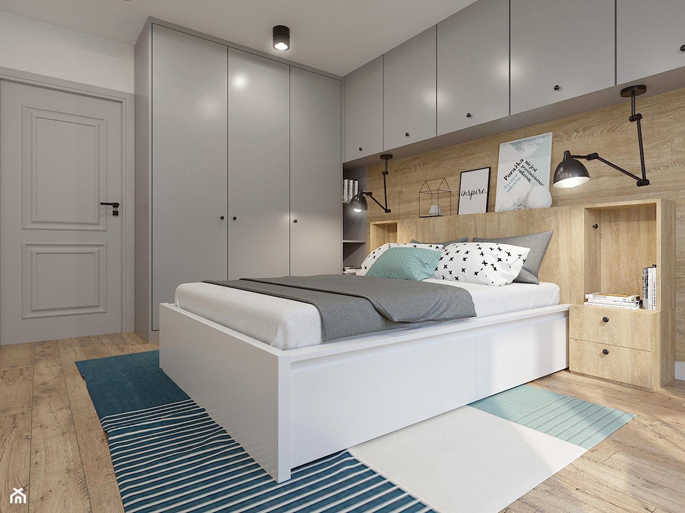 Sypialnia w skandynawskim klimacie - zdjęcie od NEFA Architekci - Wnętrza - Homebook