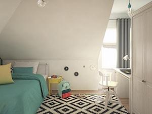 Projekt pokoju dla nastolatki na poddaszu. - zdjęcie od hexaform