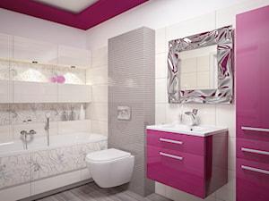 Miski - Średnia biała łazienka w bloku w domu jednorodzinnym bez okna, styl tradycyjny - zdjęcie od DEANTE