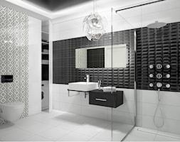 Baterie - Duża biała łazienka, styl glamour - zdjęcie od DEANTE