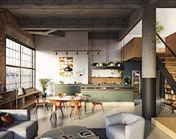 Rehau noble matt - Salon, styl industrialny - zdjęcie od REHAU - Homebook