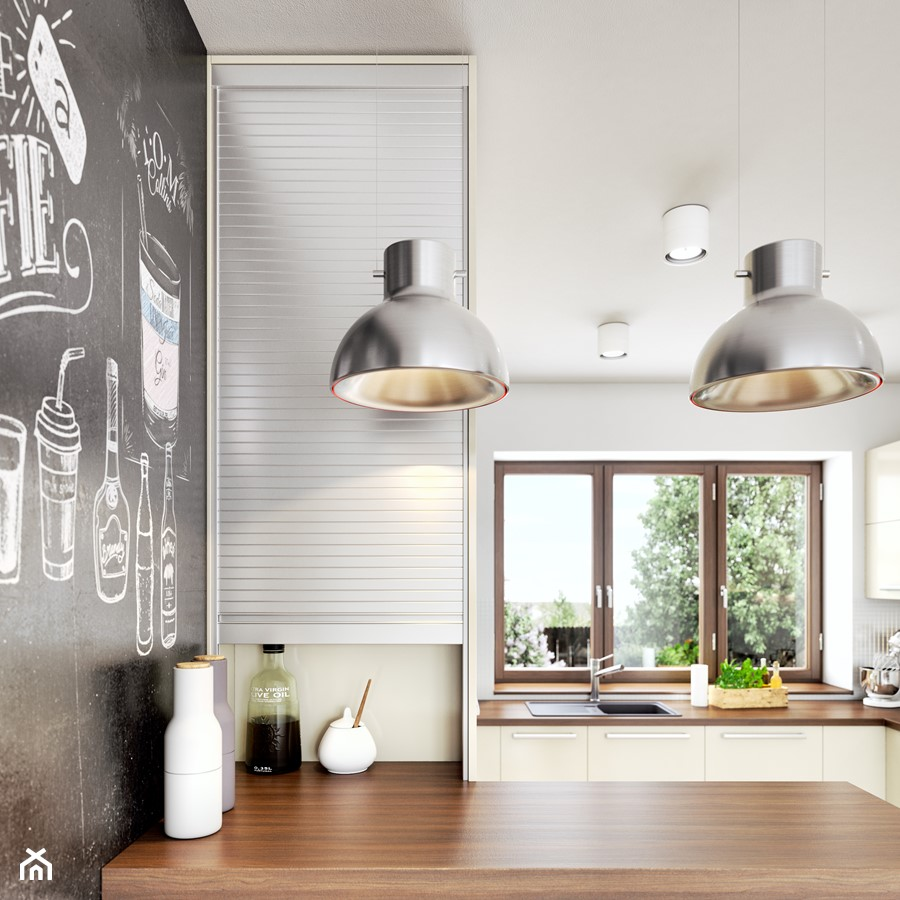 Aranżacje wnętrz - Kuchnia: Rauvolet - Średnia otwarta biała kuchnia w kształcie litery l z oknem, styl nowoczesny - REHAU. Przeglądaj, dodawaj i zapisuj najlepsze zdjęcia, pomysły i inspiracje designerskie. W bazie mamy już prawie milion fotografii!